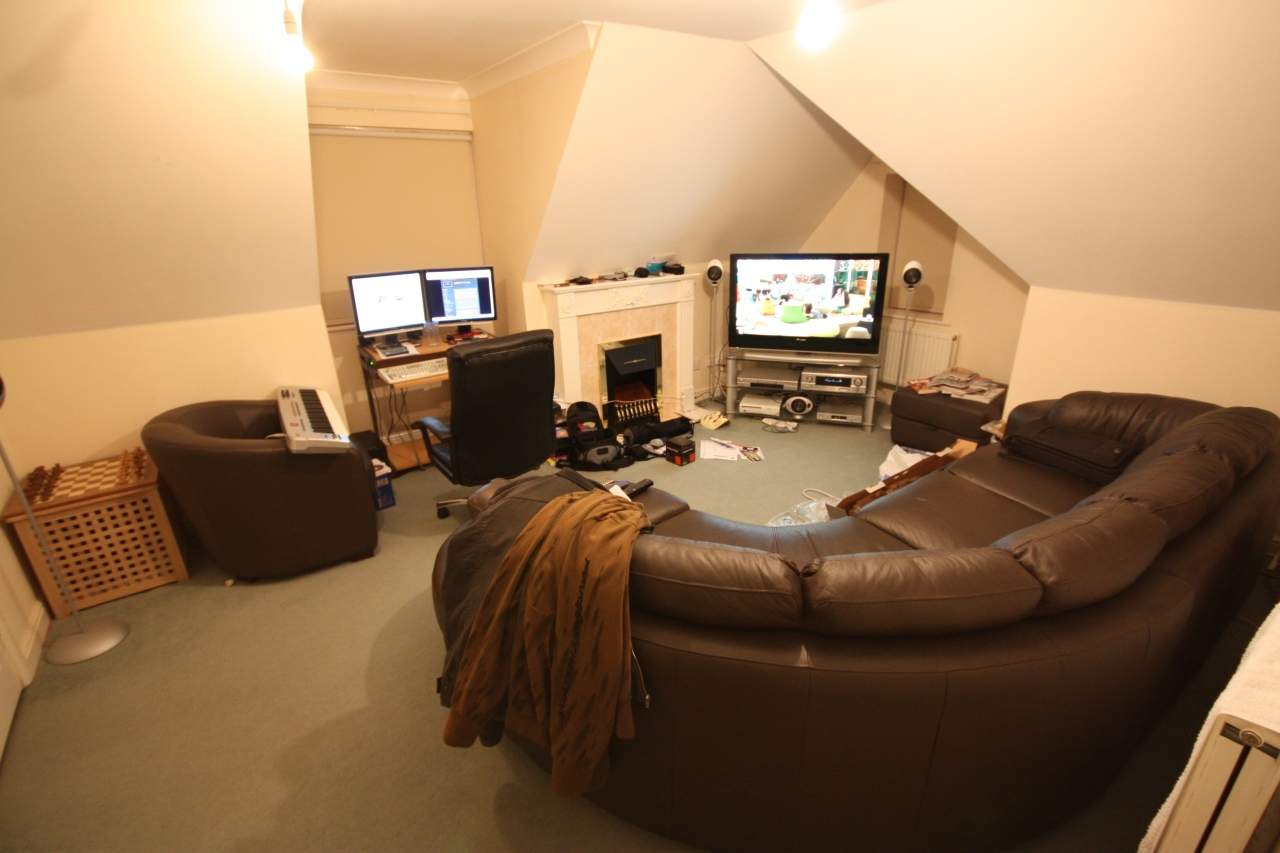 Wide angle lens action meticulously obscure for Sitting room pictures