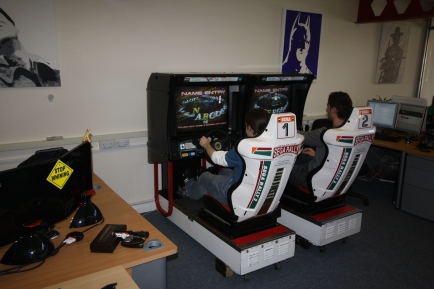 You might think having a Sega Rally 2 cabinet in your office would be cool, and you'd be RIGHT